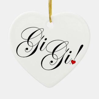 Ornement Cœur En Céramique GiGi