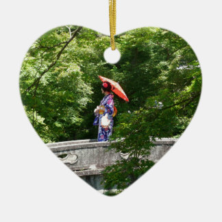Ornement Cœur En Céramique Girl Japon