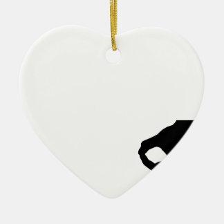 Ornement Cœur En Céramique Gotcha