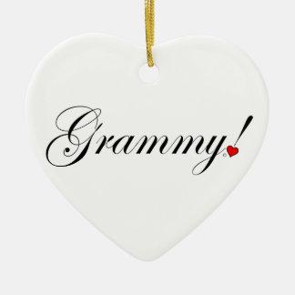 Ornement Cœur En Céramique Grammy !
