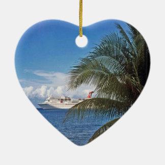 Ornement Cœur En Céramique Grand Cayman