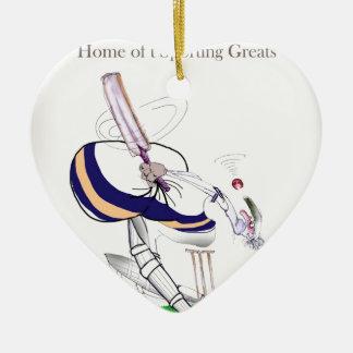 Ornement Cœur En Céramique Greats sportifs de cricket de Yorkshire d'amour '