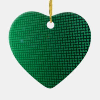 Ornement Cœur En Céramique green halo
