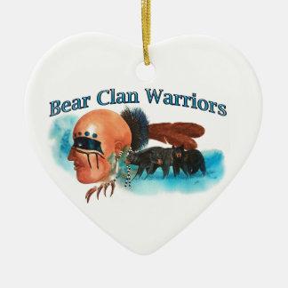 Ornement Cœur En Céramique Guerriers de clan d'ours