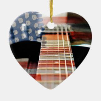 Ornement Cœur En Céramique Guitare électrique de guitare de bannière des