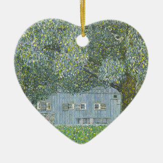 Ornement Cœur En Céramique Gustav Klimt - Bauerhaus dans la peinture de