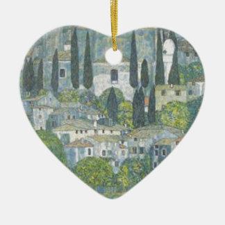 Ornement Cœur En Céramique Gustav Klimt - église dans l'oeuvre d'art de