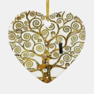Ornement Cœur En Céramique Gustav Klimt - l'arbre de la peinture de la vie