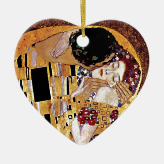 Ornement Cœur En Céramique Gustav Klimt - le baiser - art vintage Nouveau