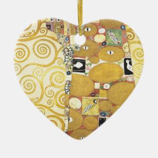 Ornement Cœur En Céramique Gustav Klimt - l'étreinte - illustration classique