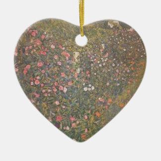 Ornement Cœur En Céramique Gustav Klimt - paysage horticole italien