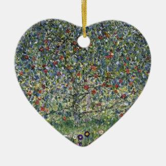 Ornement Cœur En Céramique Gustav Klimt - peinture de pommier