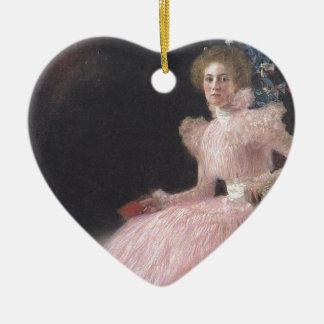 Ornement Cœur En Céramique Gustav Klimt - portrait de Bildnis Sonja Knips