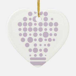 Ornement Cœur En Céramique Hexahedrons à l'intérieur d'ampoule d'idée