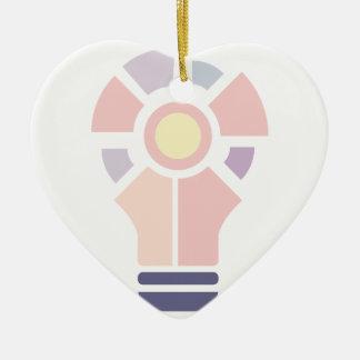 Ornement Cœur En Céramique Hexahedrons à l'intérieur de pâte de conception