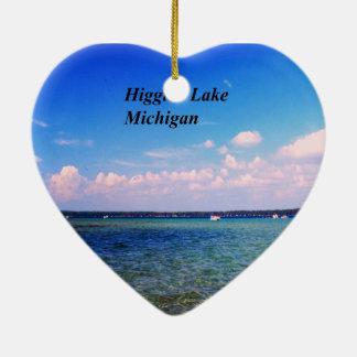 Ornement Cœur En Céramique Higgins le lac Michigan
