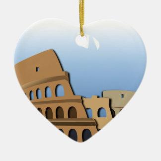 Ornement Cœur En Céramique Histoire antique Italie de Colisé de Coliseo Roma