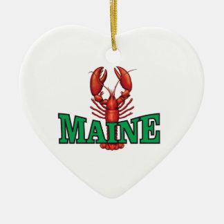 Ornement Cœur En Céramique homard vert du Maine