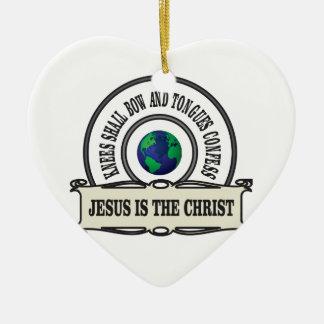 Ornement Cœur En Céramique Homme de sauveur de Jeus le Christ