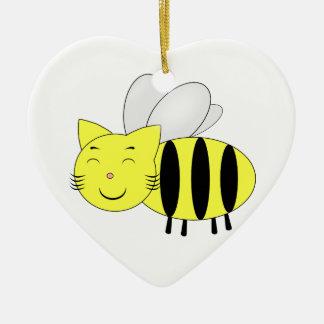 Ornement Cœur En Céramique Honeycat