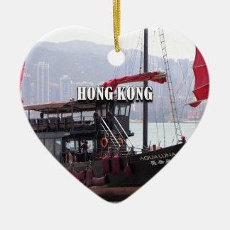 Ornement Cœur En Céramique Hong Kong : Ordure chinoise