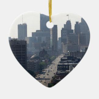 Ornement Cœur En Céramique Horizon de Detroit Michingan