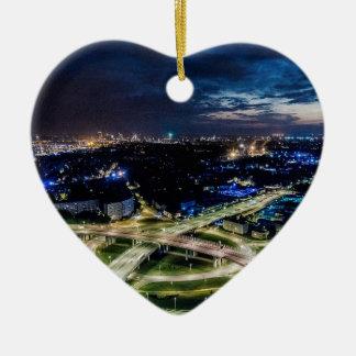 Ornement Cœur En Céramique Horizon de nuit de Riga