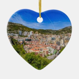 Ornement Cœur En Céramique Horizon du Monaco