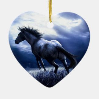 Ornement Cœur En Céramique Horse