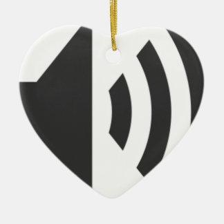 Ornement Cœur En Céramique Icône de haut-parleur
