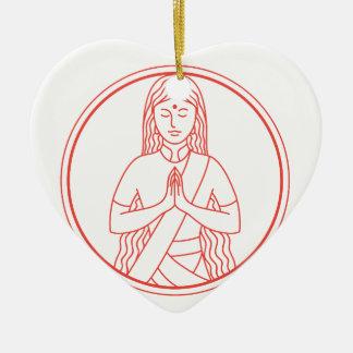 Ornement Cœur En Céramique Icône de Namaste