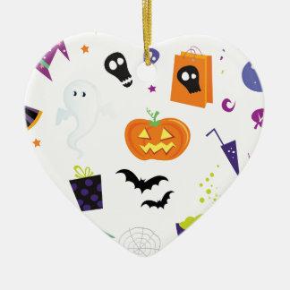 Ornement Cœur En Céramique Icônes Halloween