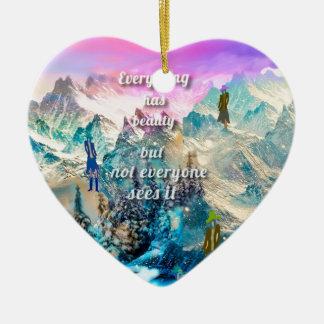 Ornement Cœur En Céramique Il est difficile de comprendre tout