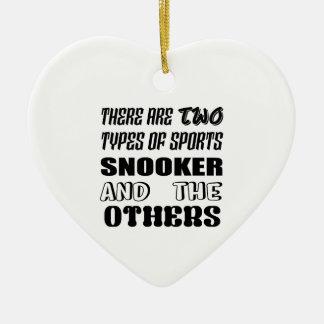 Ornement Cœur En Céramique Il y a deux types de billard et de d'autres de