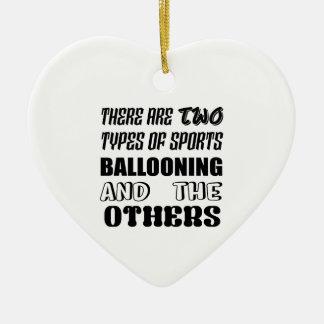 Ornement Cœur En Céramique Il y a deux types de MONTER EN BALLON et d'autre