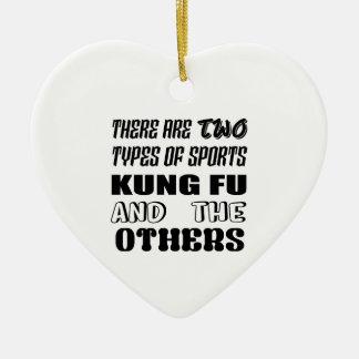 Ornement Cœur En Céramique Il y a deux types de sports Kung-fu et d'autres