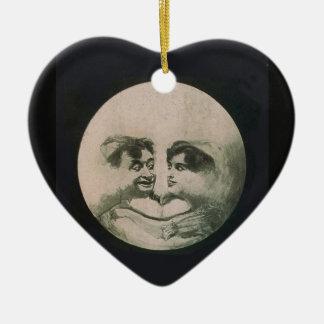 Ornement Cœur En Céramique Illusion optique de lune