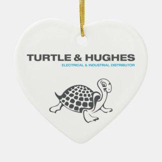 Ornement Cœur En Céramique Illustration de tortue et de Hughes