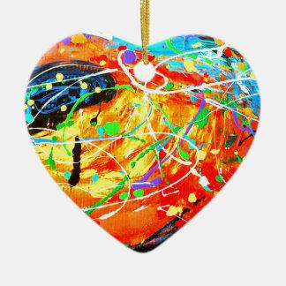 Ornement Cœur En Céramique Impressionnant