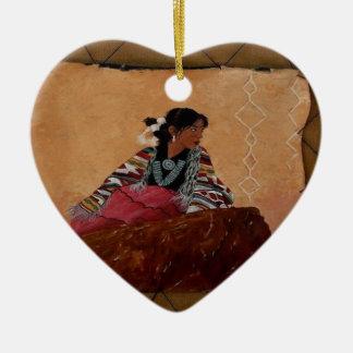 Ornement Cœur En Céramique INDIENNE TIPI.png