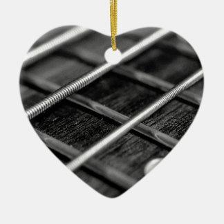 Ornement Cœur En Céramique Instrument de bruit de roche de musique de guitare