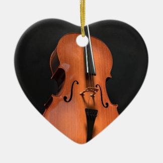 Ornement Cœur En Céramique Instrument ficelé par ficelles en bois
