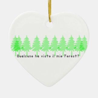 Ornement Cœur En Céramique Italien-Forrest