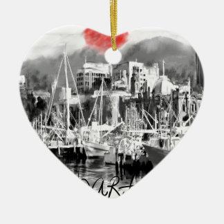 Ornement Cœur En Céramique J'aime Hobart