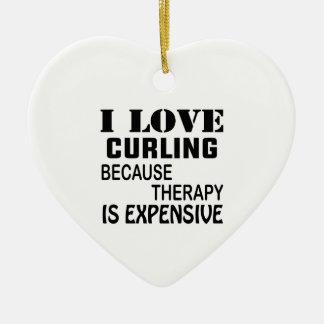 Ornement Cœur En Céramique J'aime me courber puisque la thérapie est chère