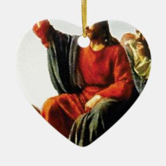 Ornement Cœur En Céramique JC enseigne