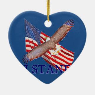 Ornement Cœur En Céramique je représente l'Amérique