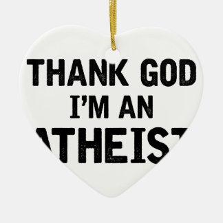 Ornement Cœur En Céramique Je suis un Athiest