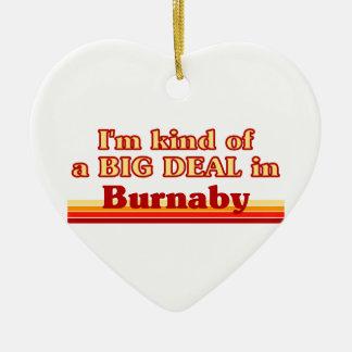 Ornement Cœur En Céramique Je suis un peu une affaire dans Burnaby