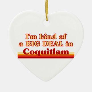 Ornement Cœur En Céramique Je suis un peu une affaire dans Coquitlam